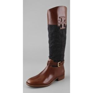 6a9eda481230c 026be c6e5b  netherlands tory burch shoes blaire leather and flannel riding  boots poshmark c42b3 6474d
